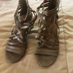 Strappy Lane Bryant wedge sandals